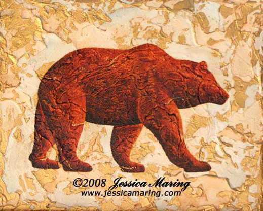 """Intent"", a painting of a bear in profile by Jessica Maring"