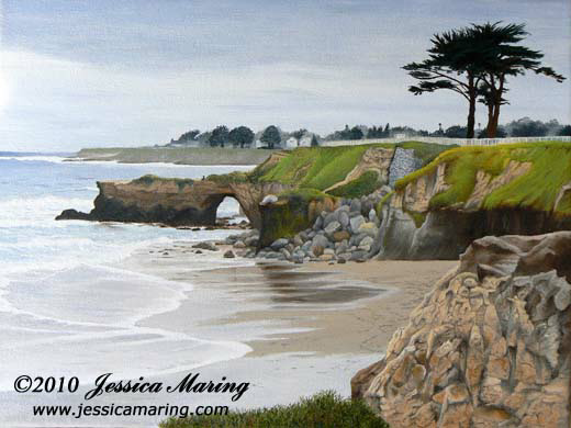 """Rainy Monday Santa Cruz"", an oil painting by landscape painter Jessica Maring"