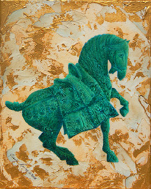 Tang Horse II, a painting by Jessia Maring