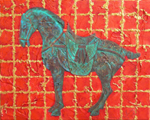 Tang Horse IV, a painting by Jessica Maring