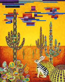 Southwestern Zabbit, a painting by Jessica Maring