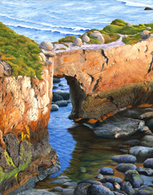 Low Tide Under the Arch, a painting by Jessica Maring